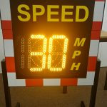 Portable speed sign 30mph