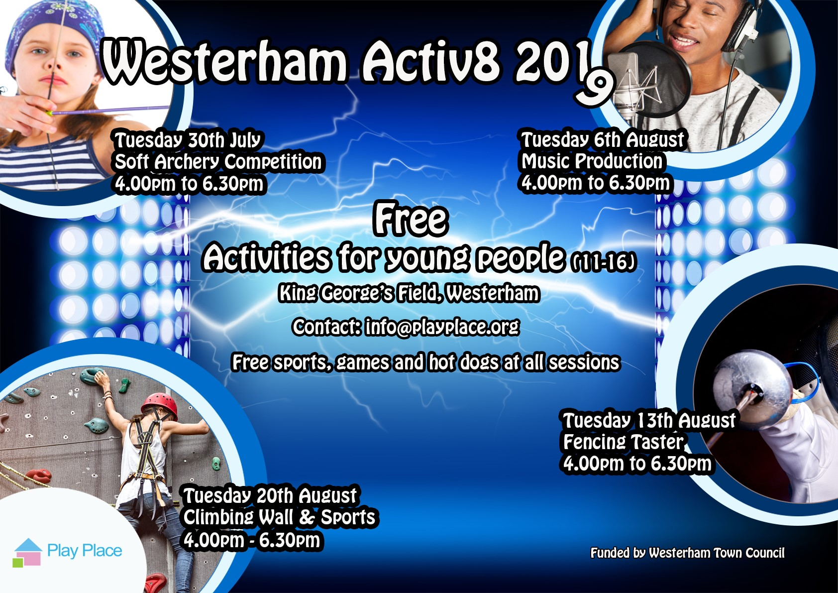 Westerham Summer fun for 11-16 yrs olds